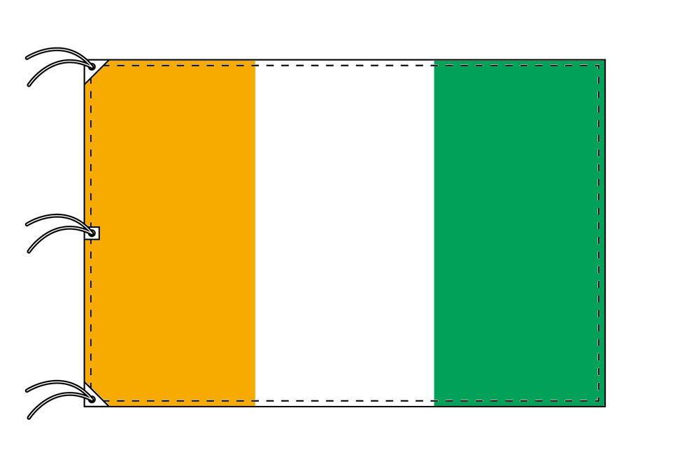 【期間限定送料無料】 コートジボワール 180×270cm 国旗 180×270cm 日本製 テトロン製 日本製 国旗 世界の国旗シリーズ, オンセンチョウ:bae706cb --- superbirkin.com