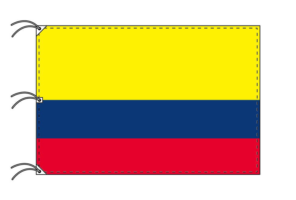 世界の国旗 コロンビア国旗[200×300cm・高級テトロン製]NO.6号