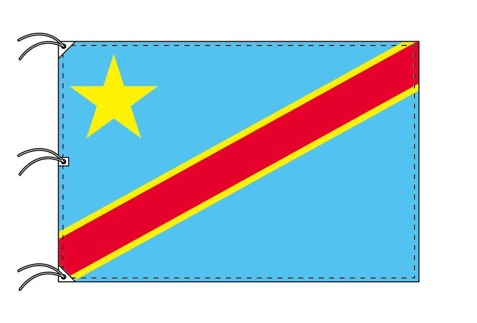 世界の国旗 コンゴ民主国旗[200×300cm・高級テトロン製]NO.6号