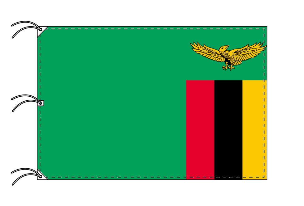 世界の国旗 ザンビア国旗[200×300cm・高級テトロン製]NO.6号