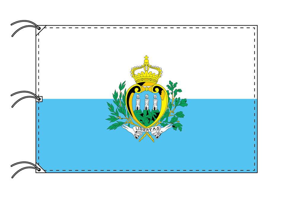 世界の国旗 サンマリノ国旗[200×300cm・高級テトロン製]NO.6号