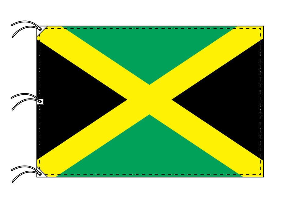 世界の国旗 ジャマイカ国旗[200×300cm・高級テトロン製]NO.6号