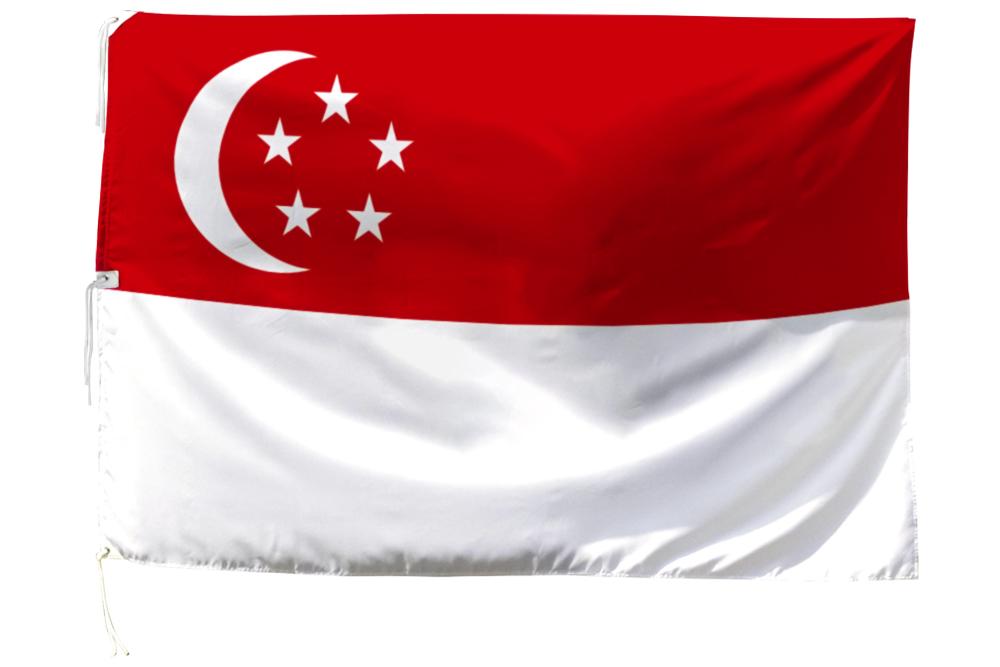 世界の国旗 シンガポール国旗[200×300cm・高級テトロン製]NO.6号