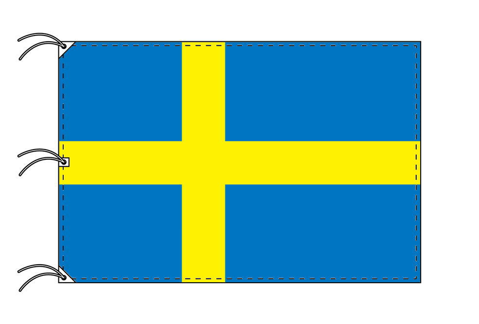世界の国旗 スウェーデン国旗[200×300cm・高級テトロン製]NO.6号