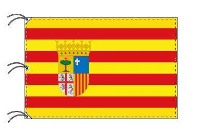 スペイン・自治州旗 アラゴン州(140×210cm・高級テトロン・日本製)