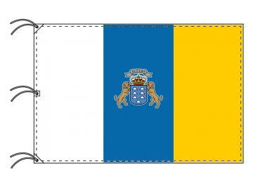 スペイン・自治州旗 カナリア諸島州(140×210cm・高級テトロン・日本製)