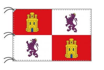 スペイン・自治州旗 カスティーリャ・イ・レオン州(140×210cm・高級テトロン・日本製)