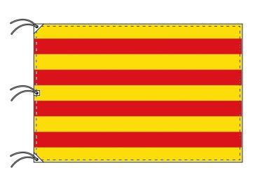 スペイン・自治州旗 カタルーニャ州(140×210cm・高級テトロン・日本製)