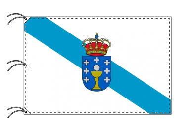 スペイン・自治州旗 ガリシア州(140×210cm・高級テトロン・日本製)