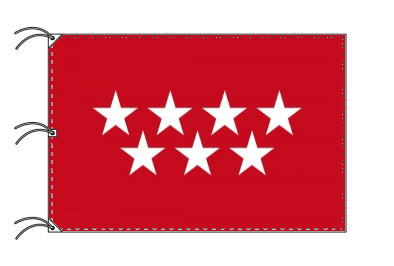 スペイン・自治州旗 マドリード州(140×210cm・高級テトロン・日本製)