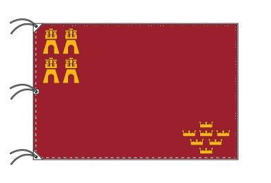 スペイン・自治州旗 ムルシア州(140×210cm・高級テトロン・日本製)
