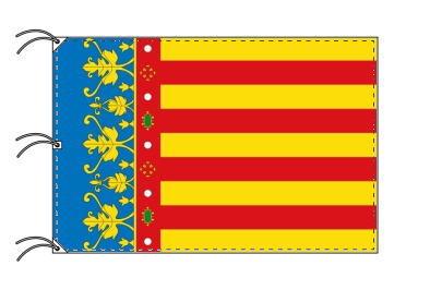 スペイン・自治州旗 バレンシア州(140×210cm・高級テトロン・日本製)