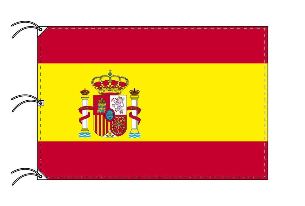 世界の国旗 スペイン[紋章入]国旗[200×300cm・高級テトロン製]NO.6号