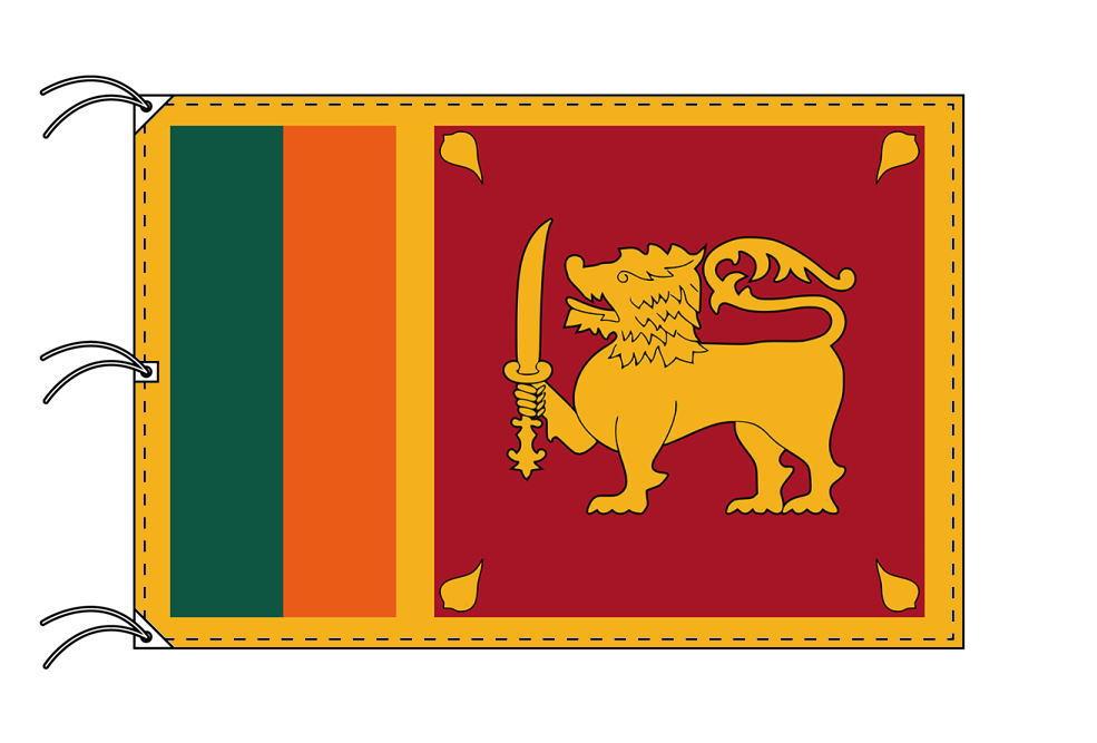 世界の国旗 スリランカ国旗[200×300cm・高級テトロン製]NO.6号