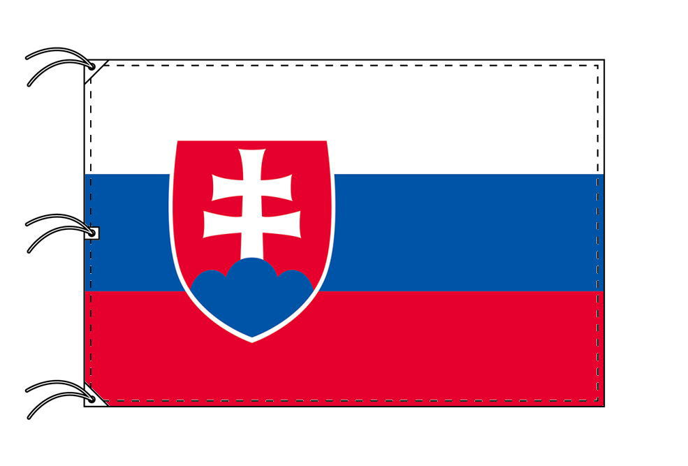 世界の国旗 スロバキア国旗[200×300cm・高級テトロン製]NO.6号