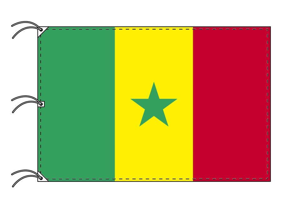 世界の国旗 セネガル国旗[200×300cm・高級テトロン製]NO.6号