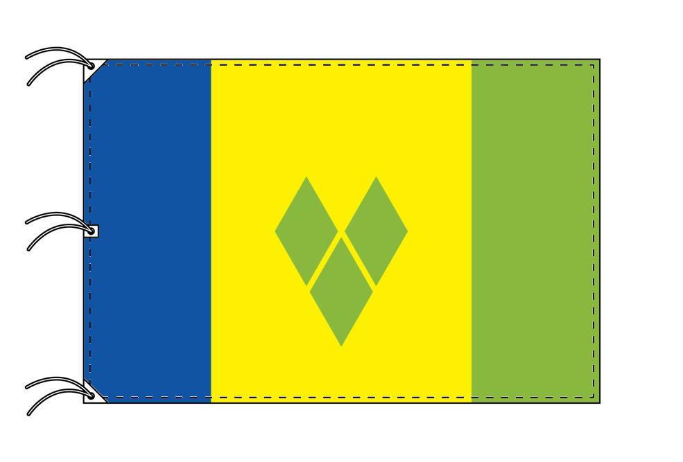 世界の国旗 セントビンセント・グレナデイーン諸島国旗[200×300cm・高級テトロン製]NO.6号