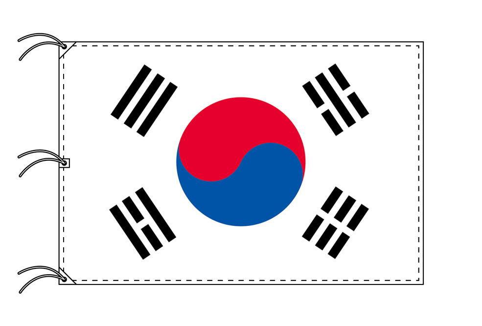 世界の国旗 大韓民国[韓国]国旗[200×300cm・高級テトロン製]NO.6号
