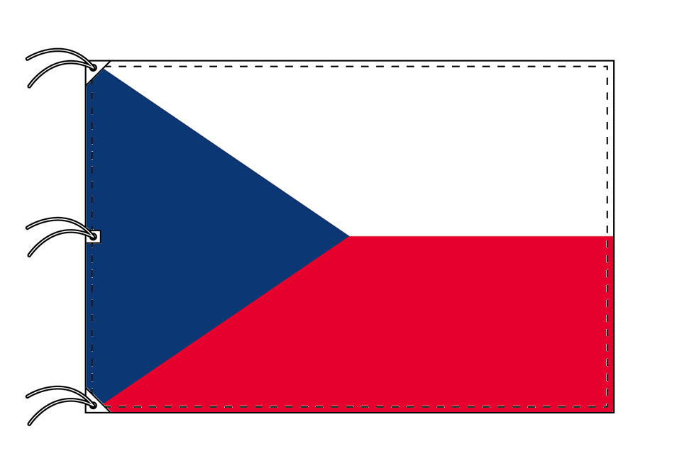 世界の国旗 チェコ国旗[200×300cm・高級テトロン製]NO.6号