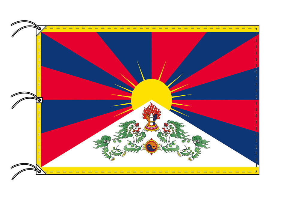 チベット[チベット自治区]国旗[200×300cm・高級テトロン製]NO.6号