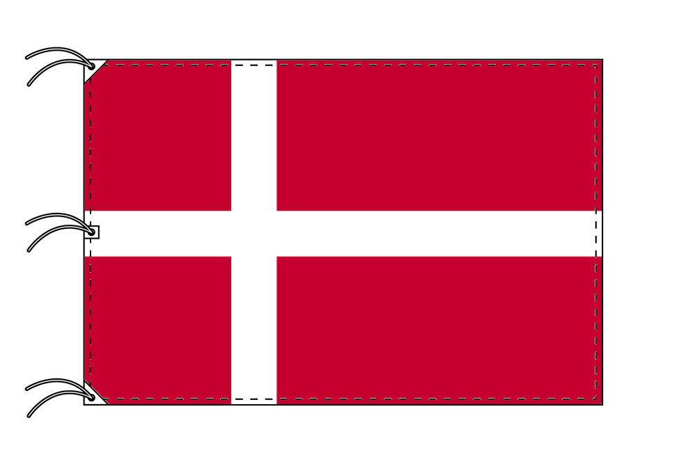 ★【送料無料】高品質テトロン国旗!200カ国!★ 世界の国旗 デンマーク国旗[180×270cm・高級テトロン製]NO.5号