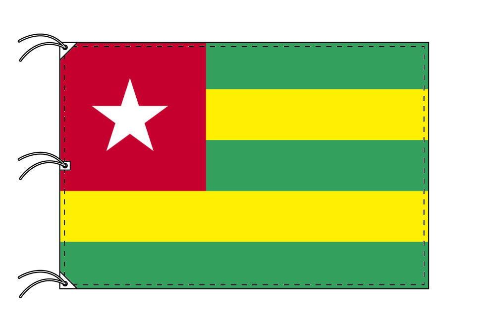 世界の国旗 トーゴ国旗[200×300cm・高級テトロン製]NO.6号