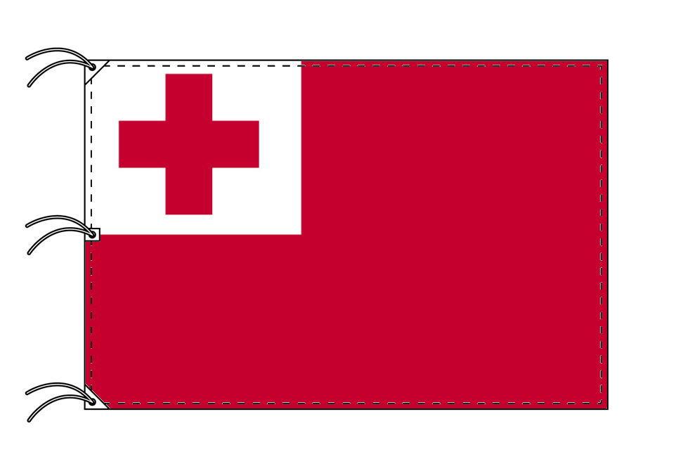 世界の国旗 トンガ国旗[200×300cm・高級テトロン製]NO.6号