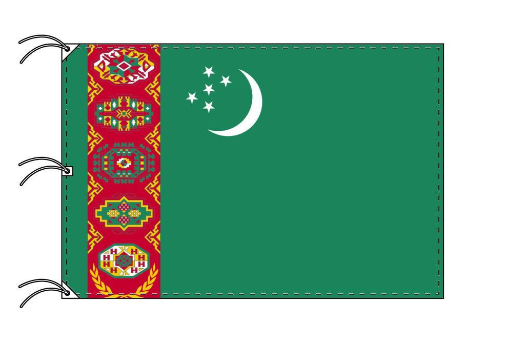 世界の国旗 トルクメニスタン国旗[200×300cm・高級テトロン製]NO.6号