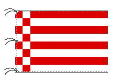 ドイツ・州旗 自由ハンザ都市ブレーメン(140×210cm・高級テトロン・日本製)