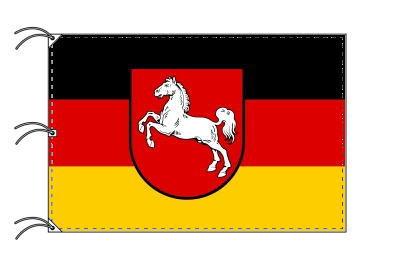 ドイツ・州旗 ニーダーザクセン州(140×210cm・高級テトロン・日本製)