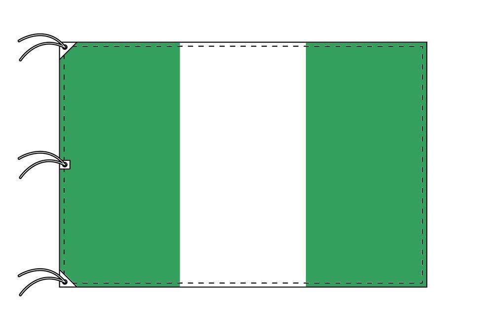 世界の国旗 ナイジェリア国旗[200×300cm・高級テトロン製]NO.6号