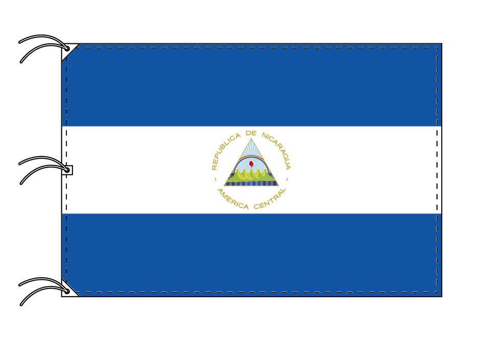 世界の国旗 ニカラグア国旗[200×300cm・高級テトロン製]NO.6号