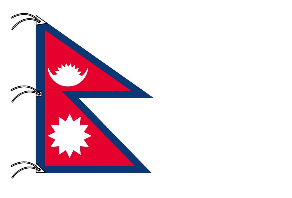 世界の国旗 ネパール国旗[200×150cm・高級テトロン製]NO.6号