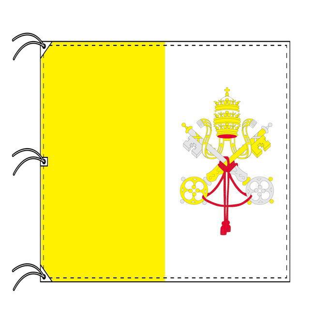 世界の国旗 バチカン国旗 200×200cm 高級テトロン製