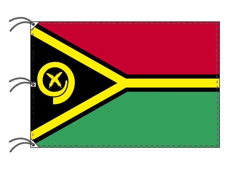 世界の国旗 バヌアツ国旗[200×300cm・高級テトロン製]NO.6号