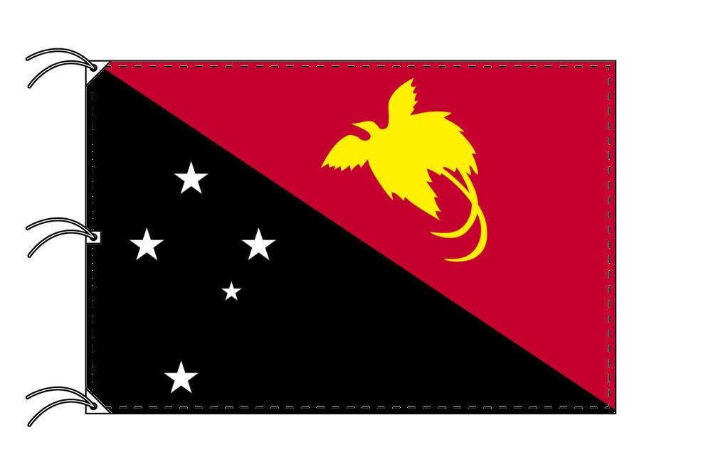 世界の国旗 パプアニューギニア国旗[200×300cm・高級テトロン製]NO.6号
