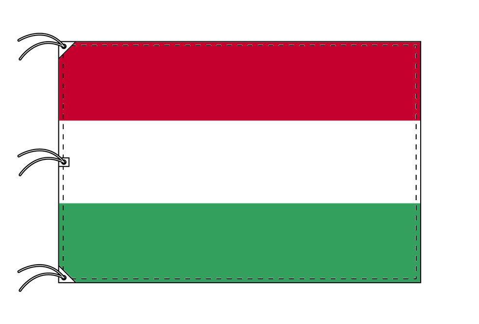 世界の国旗 ハンガリー国旗[200×300cm・高級テトロン製]NO.6号