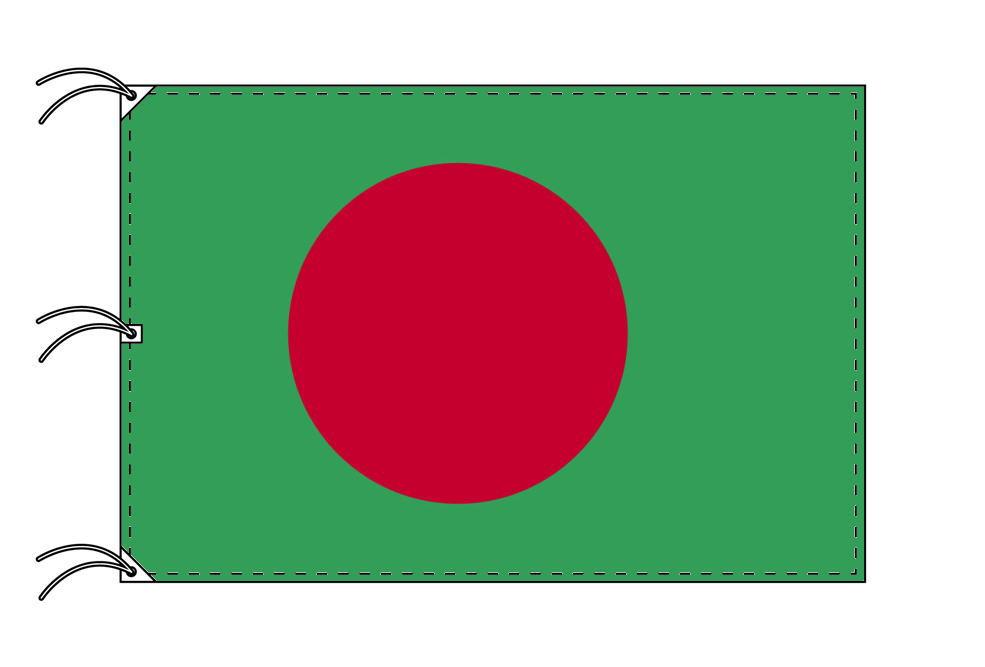 世界の国旗 バングラディシュ国旗[200×300cm・高級テトロン製]NO.6号