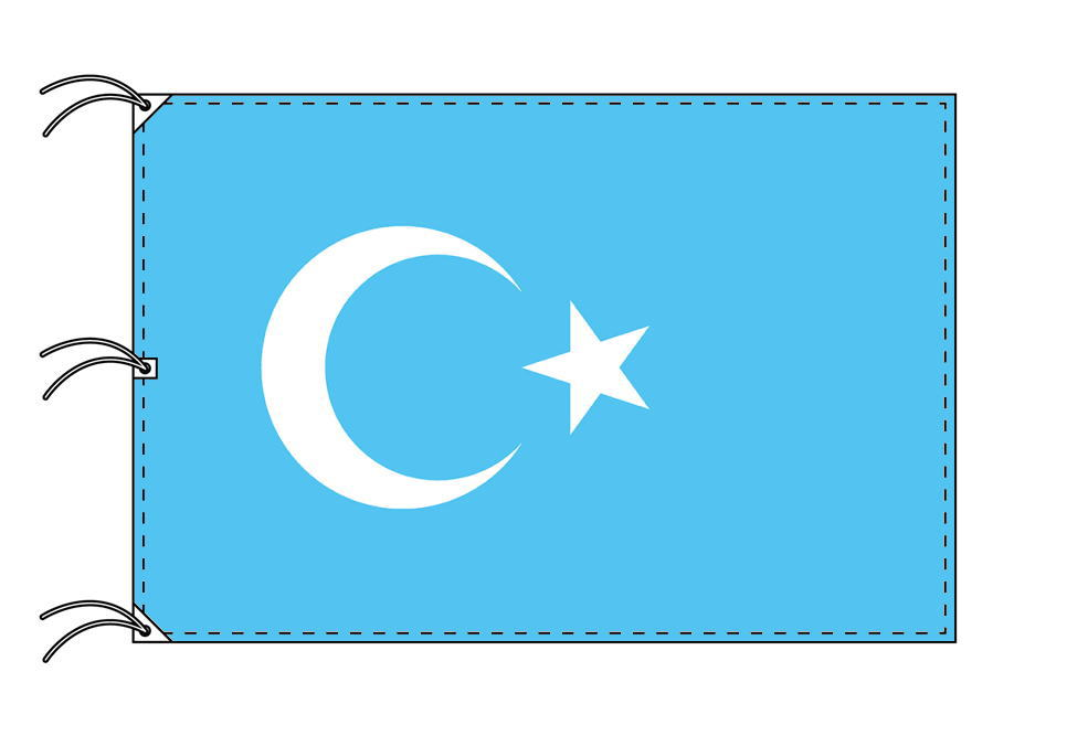 東トルキスタン[ウィグル自治区]国旗[200×300cm・高級テトロン製]NO.6号