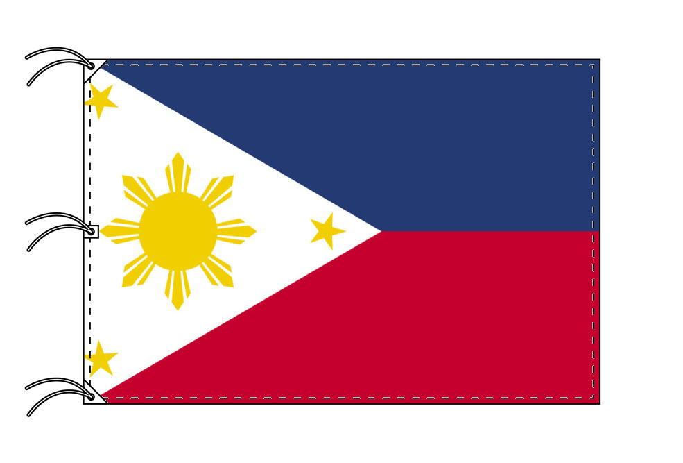 世界の国旗 フィリピン国旗[200×300cm・高級テトロン製]NO.6号
