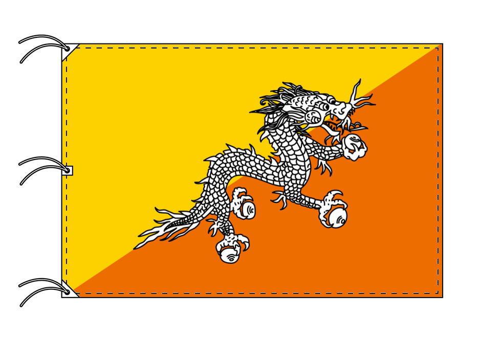 世界の国旗 ブータン国旗[200×300cm・高級テトロン製]NO.6号