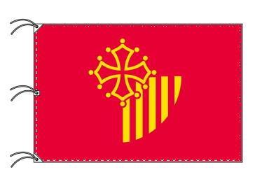 ラングドック=ルシヨン地域圏 フランス地域圏の旗・州旗(140×210cm)