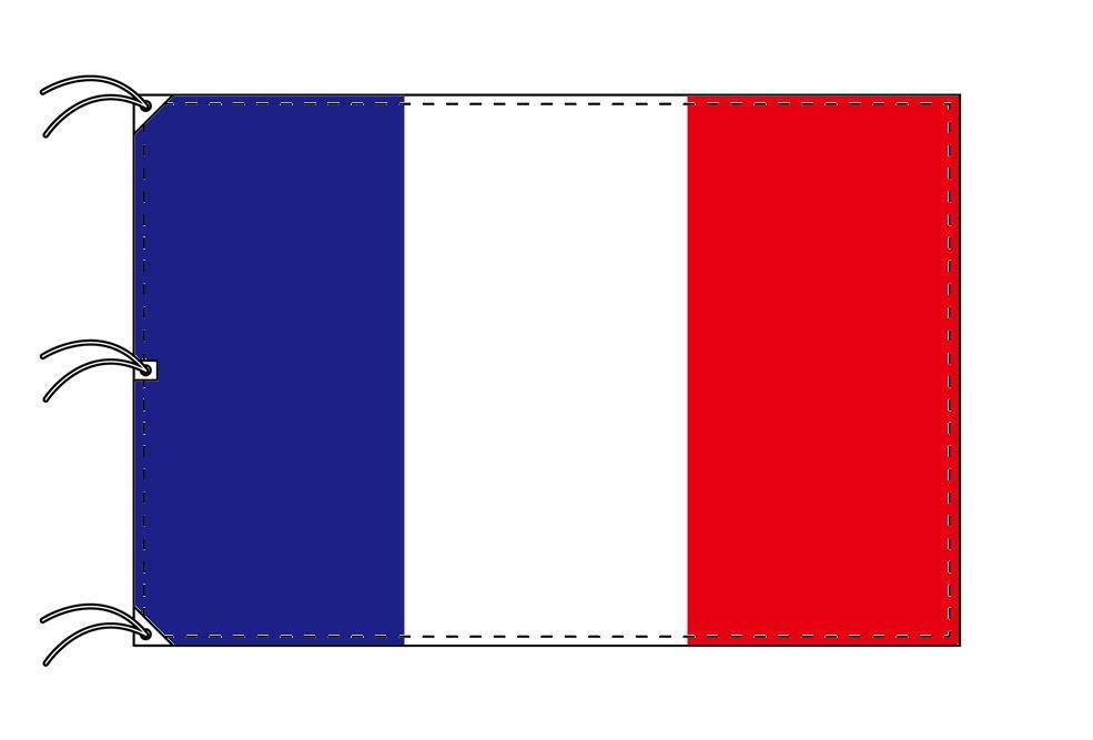 世界の国旗 フランス国旗・トリコロール[180×270cm・高級テトロン製]NO.5号