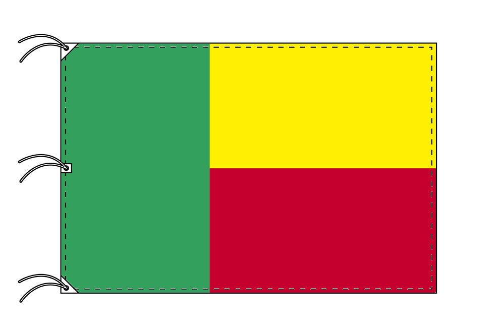 世界の国旗 ベナン国旗[200×300cm・高級テトロン製]NO.6号