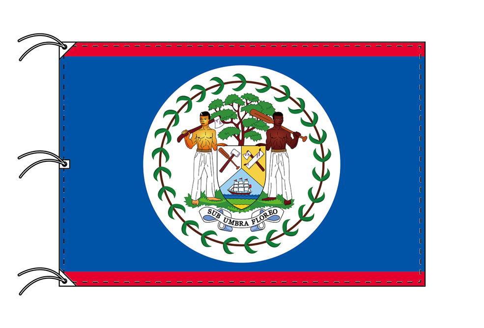 世界の国旗 ベリーズ国旗[200×300cm・高級テトロン製]NO.6号
