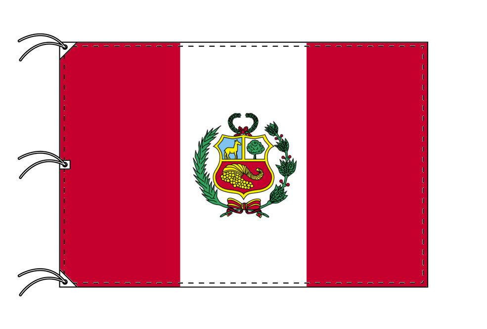 世界の国旗 ペルー国旗[200×300cm・高級テトロン製]NO.6号