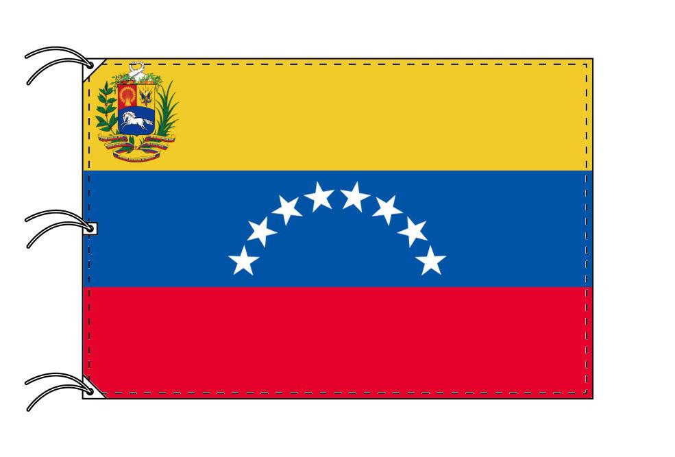 世界の国旗 ベネズェラ[紋章入]国旗[200×300cm・高級テトロン製]NO.6号
