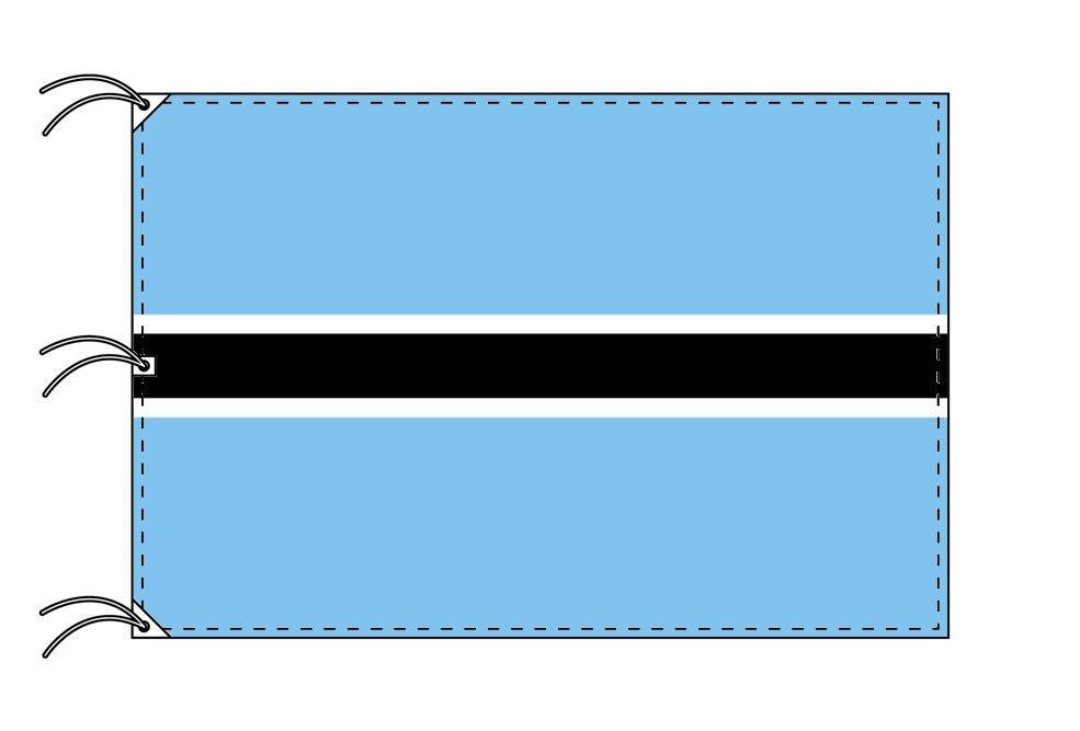 世界の国旗 ボツワナ国旗[200×300cm・高級テトロン製]NO.6号