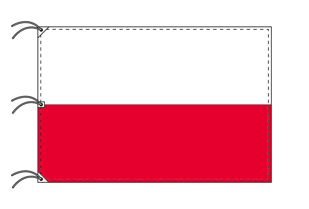 世界の国旗 ポーランド国旗[200×300cm・高級テトロン製]NO.6号