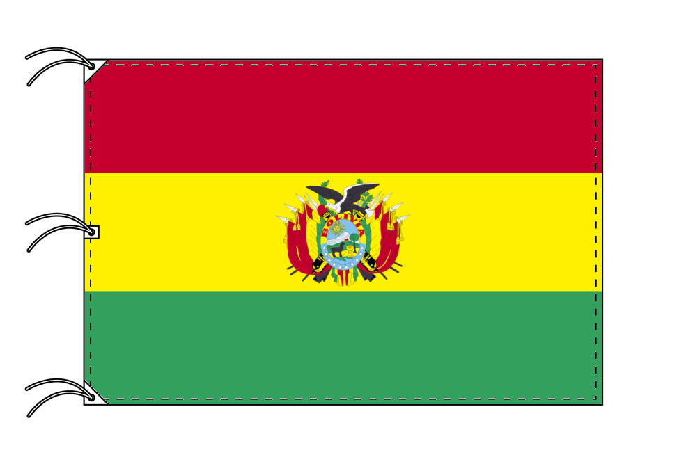 世界の国旗 ボリビア国旗[180×270cm・高級テトロン製]NO.5号